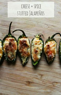 Baked Cheese Stuffed Jalapeños