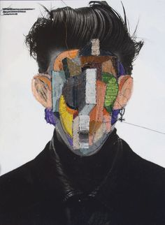Embroidered Collages, Jose Romussi - creates works that are simple in concept, yet beautifully intricate and unique in form.