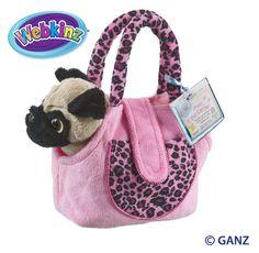 Webkinz Pug Dog with Pet Carrier $13.95