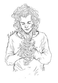 Roses will do, for now. One Direction Art, One Direction Drawings, Larry Stylinson, Art Sketches, Art Drawings, Harry Styles Drawing, Friendship Photography, Fanart, Harry Styles Wallpaper