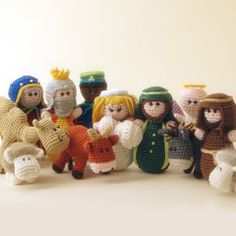 When I was a kid, my mom crocheted a nativity set. I thought it was the ultimate in dorky/cool. I still do. Maybe I'll carry on the tradition.    Found at Amigurumipatterns.net