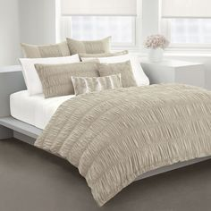 DKNY Willow Linen Duvet Cover, 100% Cotton - Bed Bath & Beyond