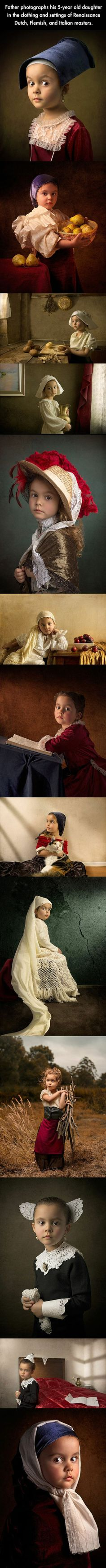 Photographer Bill Gekas' portraits of his little daughter.