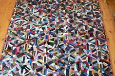 Crazy Quilt Silk circa 1920's by shop12Hudson on Etsy, $695.00