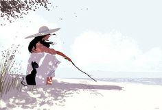 pascalcampion:  Words in the sand.#pascalcampionart.It's pretty much a follow up from yesterday's sketch.