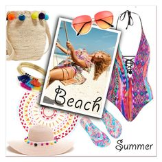 """""""Beach life!"""" by groove-muffin ❤ liked on Polyvore featuring Muzungu Sisters, Lilly Pulitzer, Seafolly, Beach Lulu and Aqua"""