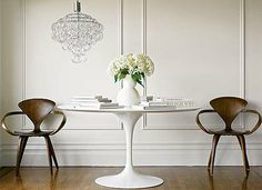 The Tulip Table with Carrera Marble Top