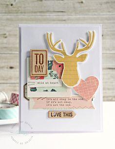 Gossamer-Blue-Joy-Taylor-September-Today Cool Cards, Diy Cards, Handmade Cards, Cards For Friends, Friend Cards, Gossamer Blue, Scrapbook Cards, Scrapbooking, Christmas Cards