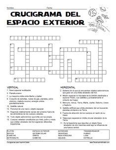 Crucigrama del Espacio Exterior para Imprimir Gratis Science And Nature, Astronomy, Finding Yourself, Design Inspiration, School, Beatles, Spanish, Teacher, Texts