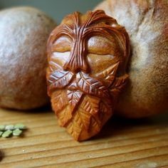 """Image of Choilleich - """"Guards the Forest"""" - Carved Avocado Stone (Pendant)"""