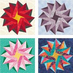 Free Paper Piecing Quilt Patterns to Print - Bing images Free Paper Piecing Patterns, Star Quilt Patterns, Pattern Blocks, Pattern Paper, Poinsettia, Quilt Blocks Easy, Star Blocks, Foundation Paper Piecing, Barn Quilts