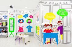 Piccino children fashion store by Masquespacio, Valencia   Spain store design