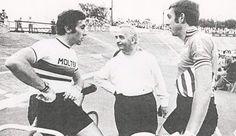 Eddy Merckx en Patrick Sercu in Oostende. Tours, Cycling