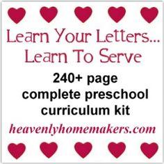 The foundation of my homeschool preschool. eBook or print formats.
