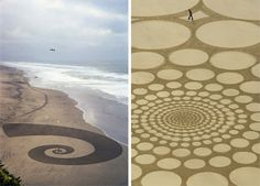 jim denevan sand art freehand graffiti