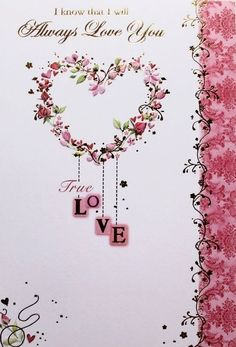 With love to a special girlfriend birthday greeting card fairy details about i know that i will always love you birthday greeting card boyfriendgirlfriend m4hsunfo