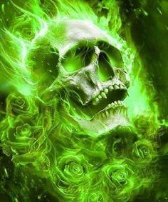 Skulls n Skeletons Dark Fantasy Art, Dark Art, Skull Artwork, Skull Painting, Ghost Rider Wallpaper, Grim Reaper Art, Badass Skulls, Ghost Rider Marvel, Deadpool Wallpaper