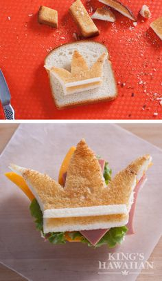 Give your kid's lunch the royal treatment with our Hawaiian Sweet Bread! It just takes a bit of creative cutting.