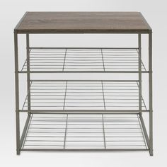 Apartment 4 Tier Shoe Rack With Rustic Oak Finish Top Gray Metal - Threshold™ : Target What is a Sta Shoe Rack Grey, 3 Tier Shoe Rack, Diy Shoe Rack, Shoe Storage, Shoe Racks, Storage Rack, Shoe Rack Target, Shoe Rack Oak, Shoe Cubby