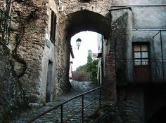 Witches Alley in Triora Village, Italy