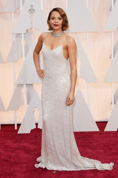 Carmen Ejogo attends the 87th Annual Academy Awards at Hollywood & Highland Center on February 22, 2015 ""