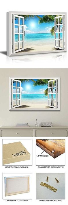 Posters and Prints 41511: [Framed] Window Style Beach Sea Modern Picture Wall Art Canvas Prints Home Decor -> BUY IT NOW ONLY: $46.85 on eBay!
