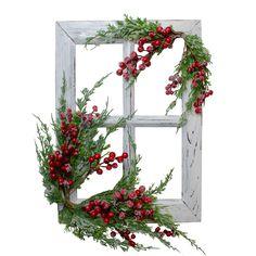 Christmas Frames, Christmas Porch, Farmhouse Christmas Decor, Outdoor Christmas, Rustic Christmas, Christmas Wreaths, Christmas Windows, Christmas Stuff, Diy Christmas Decorations For Home