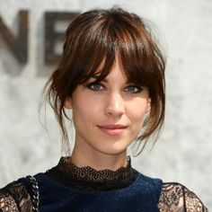 You've Got to See Chloë Grace Moretz's New Bangs - The all-time best celebrity bangs: Alexa Chung's long, center-parted bangs and beautifully blende - Hairstyles With Bangs, Pretty Hairstyles, French Hairstyles, French Haircut, Medium Hairstyles, Medium Haircuts With Bangs, Wedding Hairstyles, Haircut Long, Lob Haircut