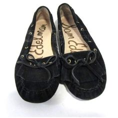Sam Edelman shoes Cute black loafer Sam Edelman shoes. Measurements: 10 inches in length and 3 1/2 in width. There is some fading of the black on the top of the shoes but otherwise in nice condition. Sam Edelman Shoes Moccasins