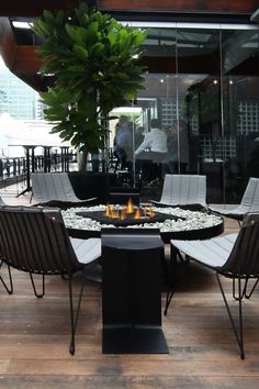 Ostro : Seafarers Britomart Auckland - Living Flame