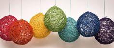 lindo para decorar y fácil de hacer, con globos pegamento y lana de colores