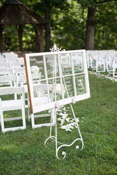 window pane ceremony program | Samantha Laffoon Photography | Glamour & Grace