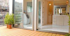 ランドリーテラス Sister Home, House Landscape, Interior Decorating, Interior Design, Laundry In Bathroom, Japanese House, Home And Deco, Small Apartments, House Rooms