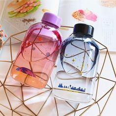 New Style Blue Sky Glass Water Bottle Cute Water Bottles, Best Water Bottle, Water Bottle Design, Glass Water Bottle, Drink Bottles, Vodka Bottle, Perfume Bottles, Blue Bottle, Botella Swell