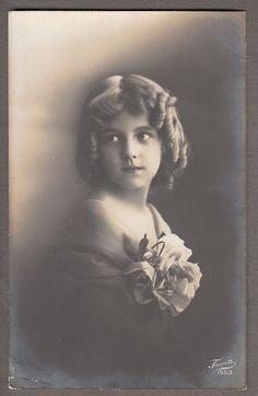 Edwardian child Girl Grete Reinwald original old 1910 real photo postcard in Real Photo | eBay