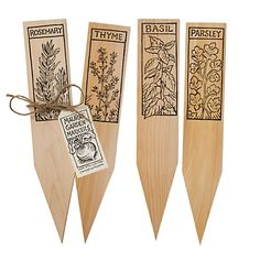 wooden herb plant markers.  $18