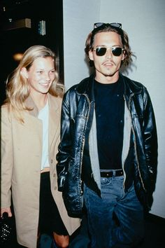 Kate Moss and Johnny Depp in the 90s