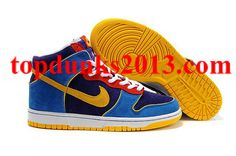 SB Mr Pacmen blue yellow black 305050 471 High Top Nike Dunk Men Women  Internet Sales f7460bd8b