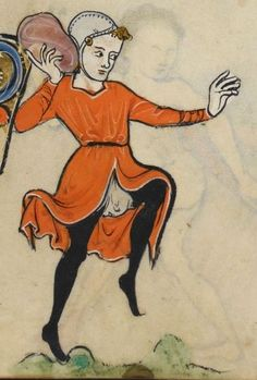 """Detail from """"The Rutland Psalter"""", medieval (c1260), British Library Add MS 62925. f 41r"""