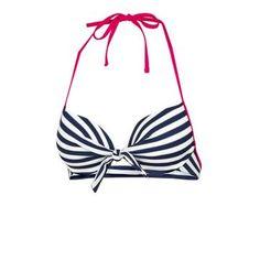 a4cdd972dc351 Fatface Stripe Bikini Top Plunge Bikini