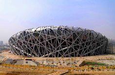 Birds Nest Olympic Stadium Beijing China  #architecture #demeuron #herzog Pinned by www.modlar.com