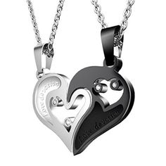 64c378898c His and Hers Heart-shape Love Devotion Stainless Steel Couple Pendant  Necklace for sale online | eBay