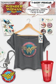 Super Combo Feminino Wonder Woman Logo Clássico