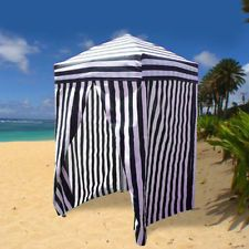 Portable Changing Tent Cabana Stripe Room Privacy Pool C&ing Outdoor EZ Pop Up & Striped Portable Changing Cabana Tent Patio Beach Pool Dressing ...