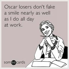 """Haha after a long shift of dealing with some very cranky customers and being understaffed and super busy for a Sunday, I got told """"well you look like you're in a pretty good mood, considering what's going on."""" I laughed and said """"it's gotten easy to fake that"""""""
