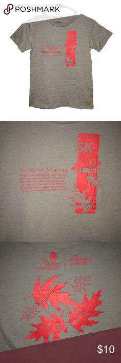 Morton Arboretum kids tee Super cute kids tee's from the amazing Illinois Morton Arboretum  •Grey w/ red print •I have two kids sized large and 1 kids medium available  •size large is approx 15.5' pit to pit & approx 21.5' long (it's a tts kids large) •NWOT (please note that these are new & unworn but do not come w/ a tag) •great for boys and girls!  •quality 100% cotton tee  •add one of these to a bundle purchase of $30+ for free! Morton Arboretum Shirts & Tops Tees - Short Sleeve