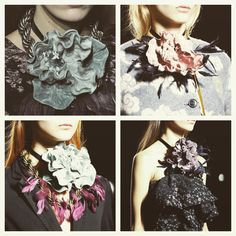 I'm in love with these Dries Van Noten corsages- it's a good job I'm so addicted to making a corsage, I'll be making loads for this autumn/winter! #inspiration #driesvannoten #corsage #style #autumn #winter #accessories #silkflowers #taradeighton