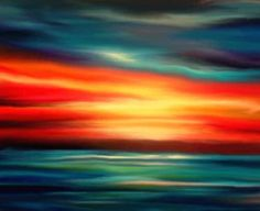 Giclee Canvas Print 20 x 30 Edge of Sunset by druidwolfart on Etsy, $175.00