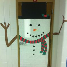 The snowman I made out if the door to my classroom. It's winter themed instead of Christmas so it doesn't interfere with those requirements and can stay up longer. Also, it brought a smile to everyone that walked by!