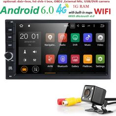 """Best price US $138.69  7"""" 2Din Universal Android 6.0 Quad Core 1024*600 Car PC Tablet GPS Navigation Radio Video Audio Player Wifi Car Headunit(No DVD)"""